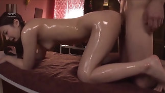 Japanese Beautiful piece of baggage like pointed Orgasm With Oil Massage